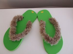Light Green Flip Flops