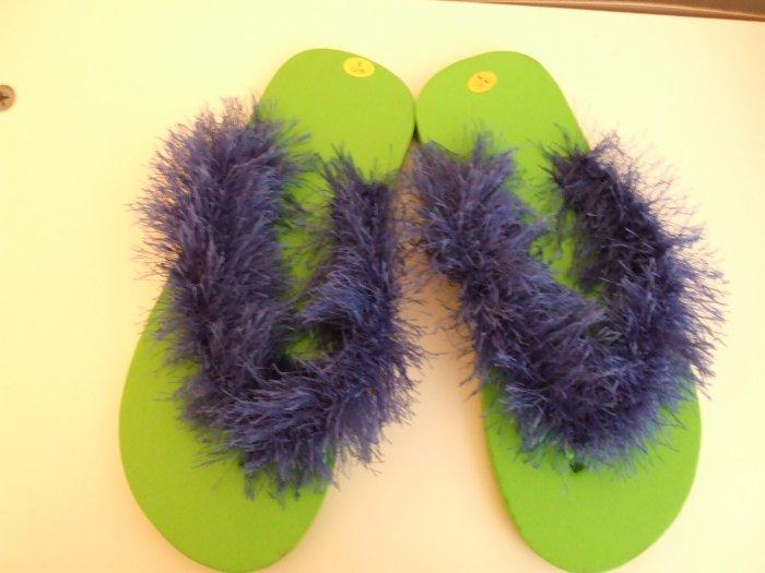 Light Green Flip Flops