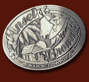 Autographed AB Waikiki Cowboy Belt Buckle - Limited Edition
