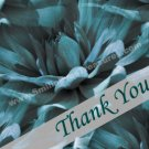 Macro Blue Dahlia Flower Digital File Thank You