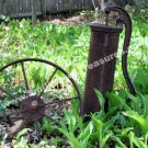 Rusted Pump And Wheel Garden Digital Nature Photo 5x7