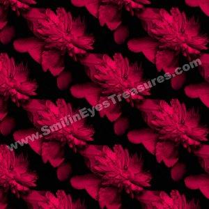 Red Hot Peonies Tiled Pattern Floral Background Digital File