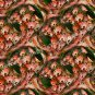 Pink African Daisies Art Tiled Pattern Floral Background Digital File