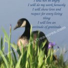 Canada Goose Art Inspirational Message Printable Digital File Card