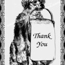Vintage Dog Art Digital File Thank You