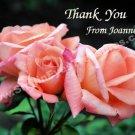 Peach Rose Trio Flower Custom Printable Thank You