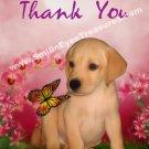 Yellow Lab Puppy Animal Printable Thank You