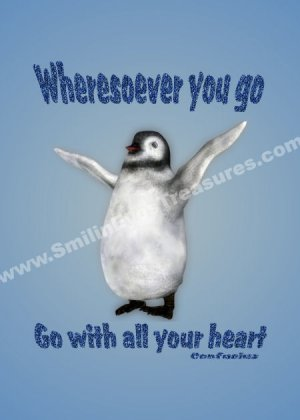 Happiness Penguin Inspirational Quote Printable Digital File Card