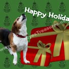 Howling Beagle Dog Printable Christmas Holiday Card