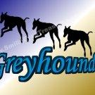 Running Greyhound Silhouettes Printable Digital File Card