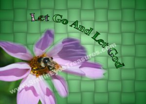 Let Go Let God Inspirational Quote Printable Digital File Card