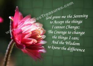 Serenity Prayer Red Flower Inspirational Printable Digital File Card