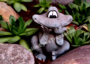 Cute Garden Frog Digital Printable Photo Painting 5x7
