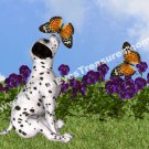 Dalmatian Puppy And Butterflies Digital Printable Animal Photo 5x7