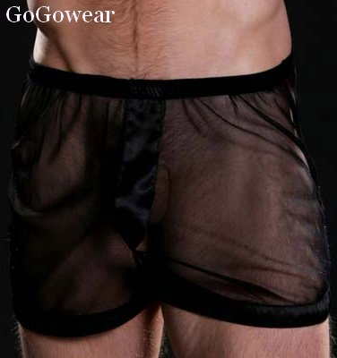 Mens Sexy See-Thru boxers,Underwear,size M-L (3056)                          Free Shipping!