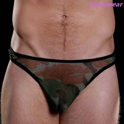 Men's Sexy Military style Thong,Underwear, L-XL (3216)                     free shipping
