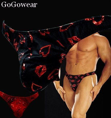 Male exotic dancer Sexy Thong Underwear,Red (3039)                      free shipping!