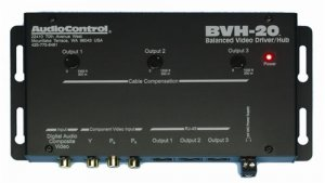 AUDIOCONTROL BVH20 COMPONENT VIDEO/DIGITAL AUDIO DRIVER HUB NEW
