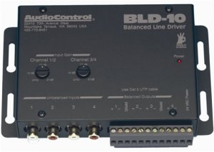 AUDIOCONTROL BLD10 BALANCED LINE DRIVER-4CH RCA TO CAT5 NEW