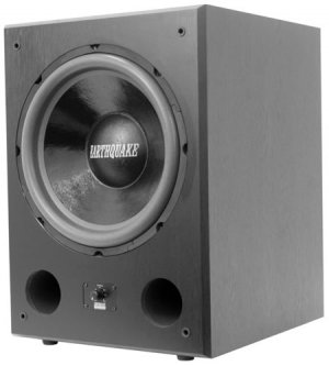 "EARTHQUAKE SOUND FF12 12"" PWRD SUB PORTED FRNT FIRING BLACK ASH"