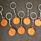 Initial/Alphabet T Handmade Leather Keychain/Charm *VANCA* Made in Japan #26391
