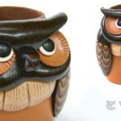 Owl Handmade Genuine Leather Eyeglasses Holder/Stand *VANCA* Made in Japan#26209