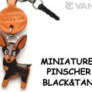 Miniature Pinscher Black&Tan Leather Earphone Jack Accessory *VANCA* #43892
