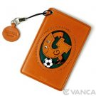 Soccer G Handmade Alphabet Leather Commuter ID Pass Card Holder *VANCA * #26478