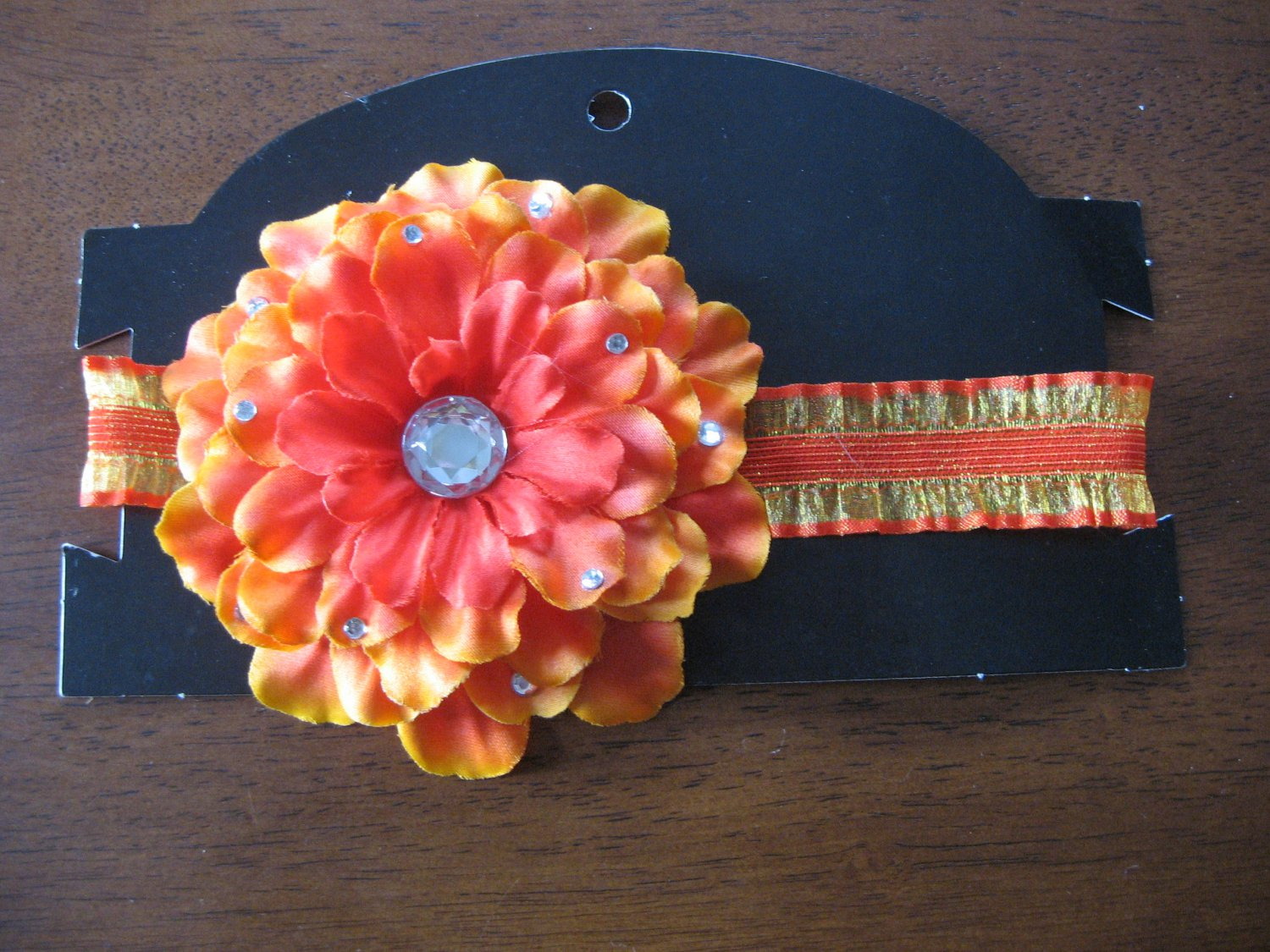 Orange Flower Headband (Infants/Toddlers)