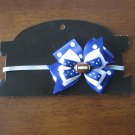 Blue and White Football Headband (9-36 months)