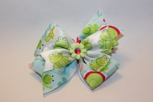 Frog and Flower Bow