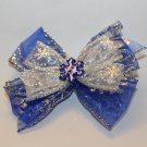 Blue Snowflake Bow