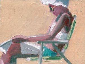 Beach Reader in Chair