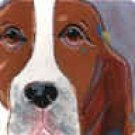 Basset Hound Portait Tile