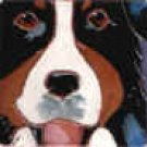 Bernese Mountain Dog Portait Tile