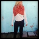 SOLD OUT! Multiplicity Snap Scarf- Burnt Orange with Antique Gold Snaps