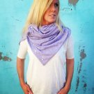 SOLD OUT-Handmade Multiplicity Snap Scarf- Rhapsody (Violet/Grey)