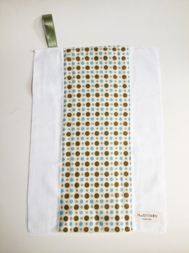 BLUE GREEN POLDA DOT- Handmade Burp Cloth/Cloth Diaper