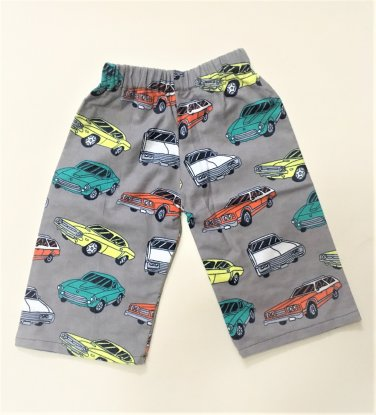 VINTAGE CARS- Handmade Infant/Toddler Lounge Pants       6-12MO
