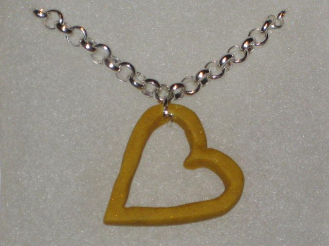 "16.5"" Yellow Glitter Necklace"