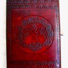 5.5x8 Handmade Leather Journal diary Celtic Tree of Life Book of Shadow wicca