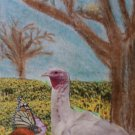 "ACEO original art trading card ""Turkey Field"""
