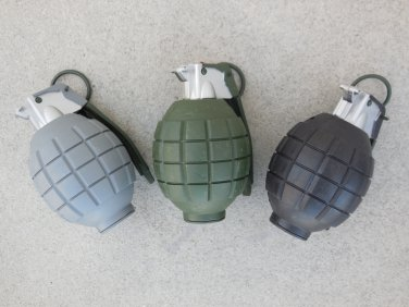 Three (3) Toy Hand Grenades Realistic Sounds SWAT Military Army Toy