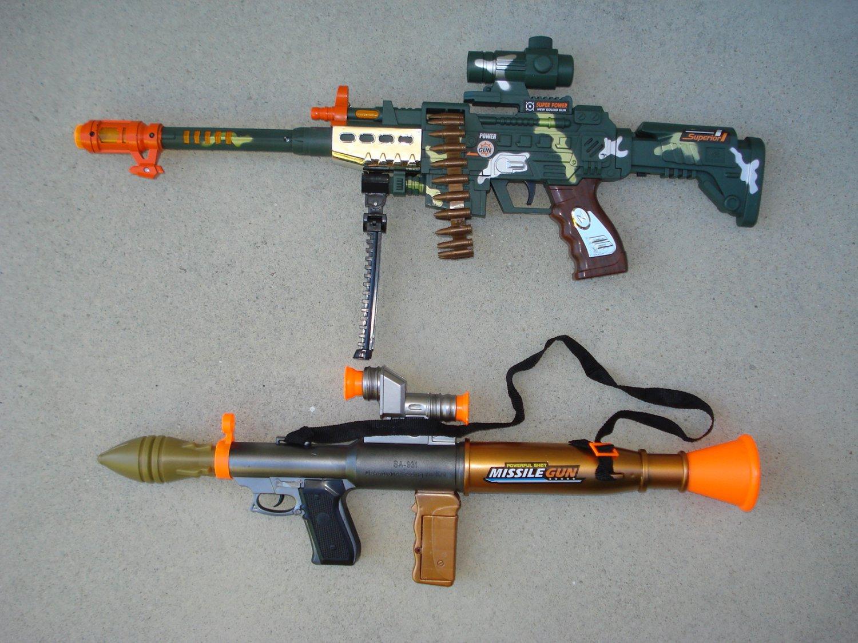 Bazooka Combo 3: Combat Camo Toy Gun + Toy Bazooka Missile Gun