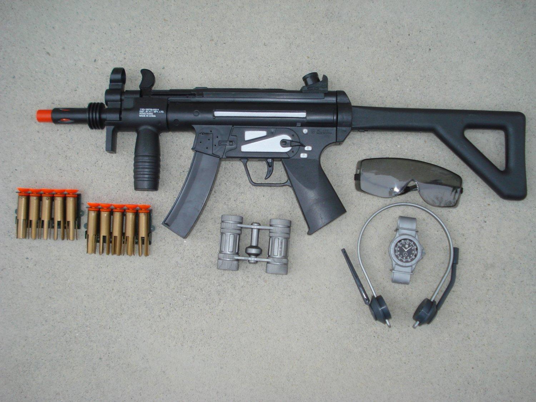 MP5 SWAT Force Dart Gun Play Set with MP5 SWAT Dart Gun Rifle + Glasses, Headset and Watch