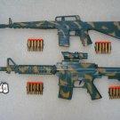 Army Dart Gun Combo 2: M-16 Camo Dart Gun Rifle + M-4 Camo Dart Gun Rifle + FREE Grenade