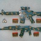 Army Dart Gun Combo 3: M-4 Camo Dart Gun Rifle + AK-47 Camo Dart Gun Rifle + FREE Grenade