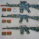 Army Dart Gun Combo 5: M4, AK47 and M16 Camo Dart Gun Rifles + FREE Grenade