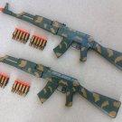 2 AK-47 Camo Dart Gun Rifles with 20 Bullet Darts + FREE Grenade