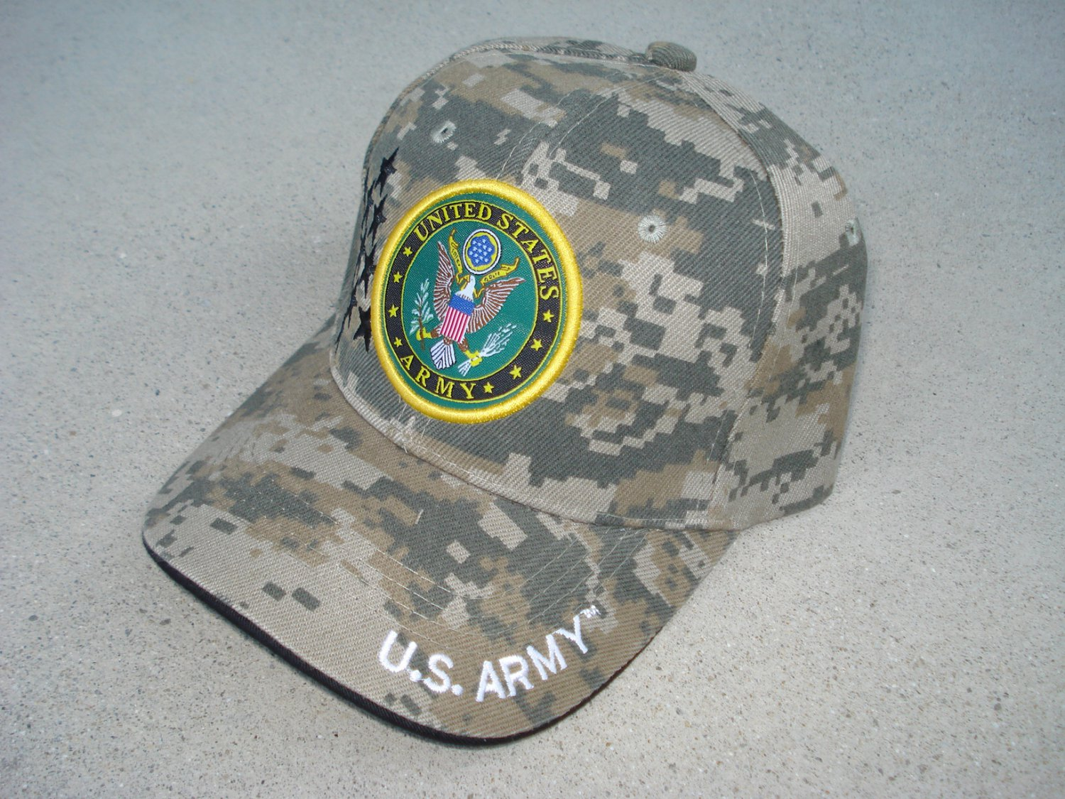 c48614a9894 US Army Digital Camo Baseball Cap with United States Army logo - licensed  by US Army